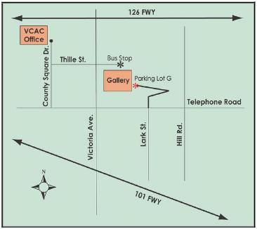 Map to the Atrium Gallery
